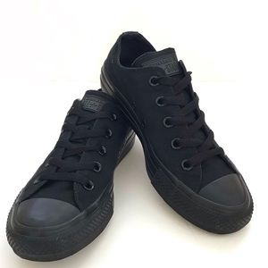 All Black Low Top Converse Sneaker